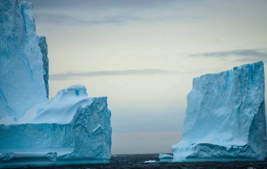 Iceberg in the ocean, which led to Titanic disaster and to historic life insurance payouts
