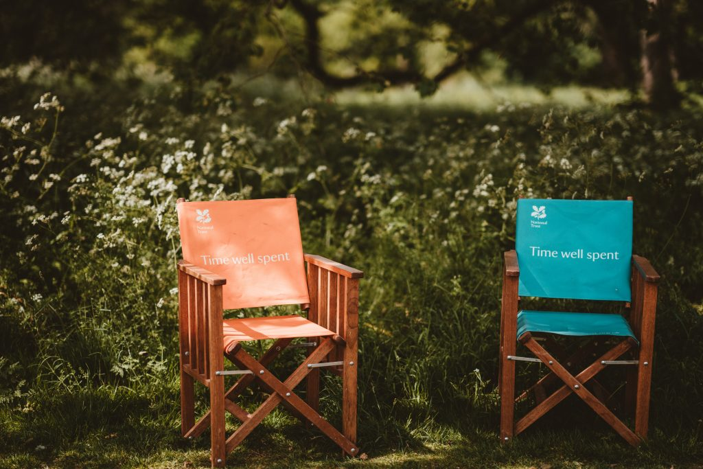 Two outdoor seats in the countryside, rediscovering small island living