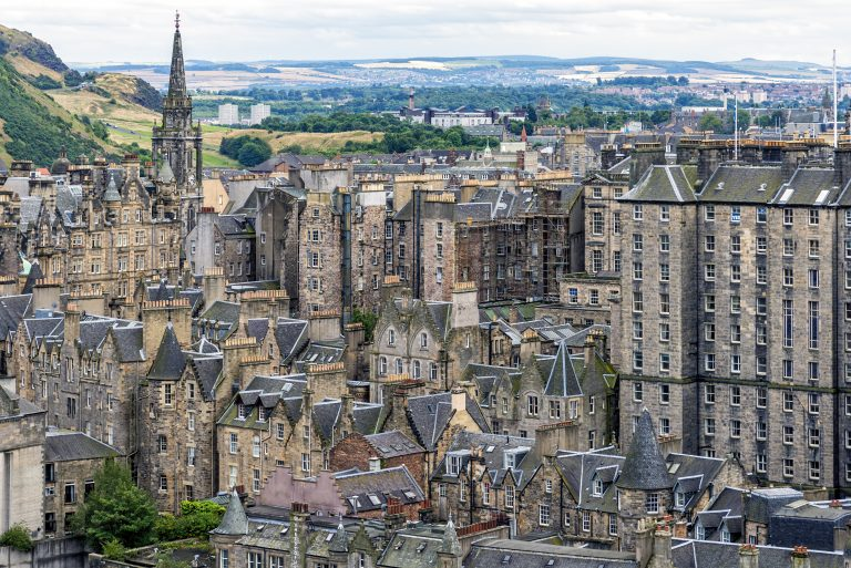 A skyline view of Edinburgh's Old Town