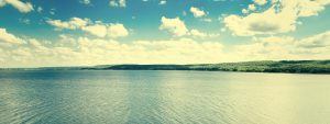 beautiful landscape of lake and sky