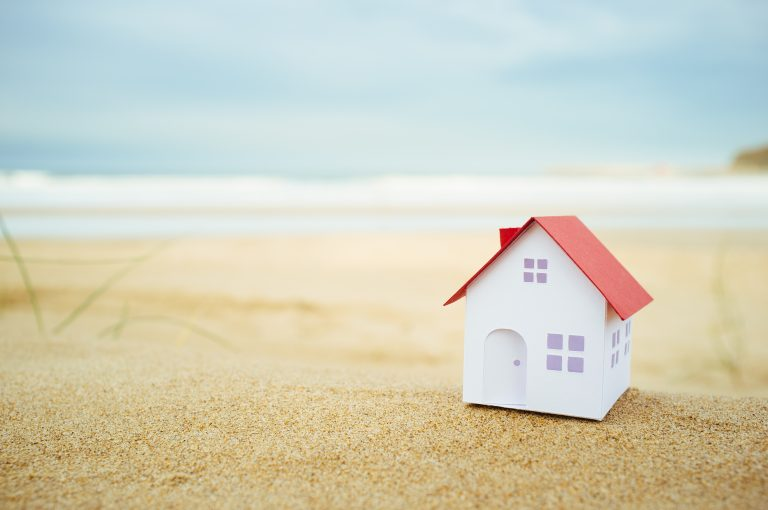 Model of house on sand, equity release allowing second homes